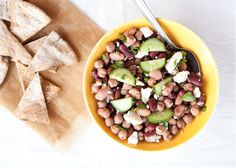 kidney bean and feta salad
