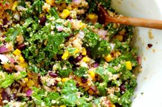 Spicy Kale and Quinoa Black Bean Salad [Vegan, Gluten-Free]