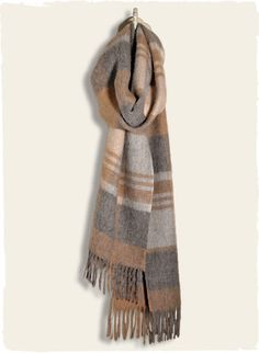 Peruvian Connection | The brushed Baby Alpaca Plaid Scarf makes for a fool-proof gift.
