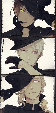 Spain, Prussia, and France ❤ ℒℴvℯ France looks so cool in this one! Loving his hair~