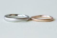 お二人の最初で最後の結婚指輪 [marriage,wedding,ring,bridal,K18,Pt900,マリッジリング,結婚指輪,オーダーメイド,色違い,ピンクゴールド,ウエディング,ith,イズマリッジ]