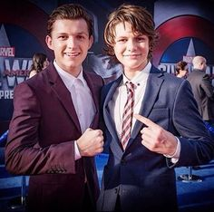 """shieldspatriot: """" colorfulblades: """" Tom Holland and Ty Simpkins Peter Parker and Harley Keener AHEM TONY'S SCIENCE KIDS """" This is why they need to bring Harley back into the MCU, we need the science kids together! """""""