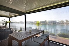 It's all about the view. Enjoy the outdoors ad keep out the UV rays with our Zipscreen blinds.