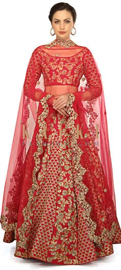 Rani pink lehenga and blouse featuring in raw silk. Its enhanced in zari embroidery in floral motif all over Indian Attire, Indian Outfits, Pink Lehenga, Indian Clothes, Floral Motif, Traditional Outfits, Boutiques, Pakistani, Desi