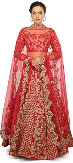 Rani pink lehenga adorn in floral motif embroidery only on Kalki