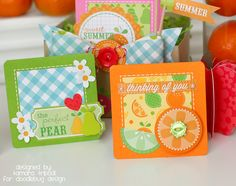 Doodlebug Design Inc Blog   Fruit Stand Collection   Tamara Tripodi.  Love all the bright colors