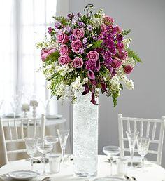 Wedding Party table: Purple Elegance Luxury Centerpiece