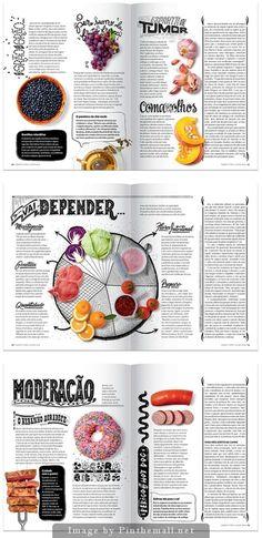nice layout design Anticancer Menu by Sergio Bergocce - created via pinthemall. Design Editorial, Editorial Layout, Menu Design, Book Design, Design Design, Magazine Layout Design, Food Magazine Layout, Newspaper Layout, Print Layout