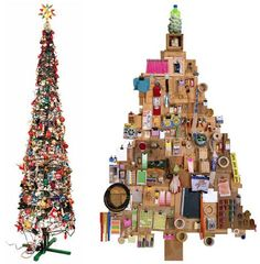 Creative Christmas tree made from a pile of bottles is one idea that looks amazing, but be careful when putting the bottle in there. In addition to bottles, there is also a Christmas tree idea from the pile of firewood, a Christmas tree from a pile of pillows, Christmas tree from CDs and a Christmas tree from the typical Japanese food. Have a look at the pictures below and survived being creative.