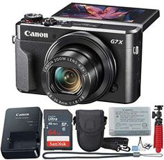Buy it before it ends. There is always many products on sae upto - Canon PowerShot Digital Camera X Mark II with Wi-Fi & NFC, LCD Screen, and Sensor - (Black) 11 Piece Value Bundle - Buy Technology Canon G7x Camera, Canon Powershot Camera, Camera Gear, Slr Camera, Best Vlogging Camera, Best Dslr, Best Waterproof Camera, Canon G7x Mark Ii, Point And Shoot Camera