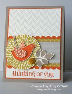 Betsy's Blossom - Stampin' Up! -- Great color combo - Summer Starfrit, Crumb Cake, Pumpkin Pie, and Sahara Sand by patsy