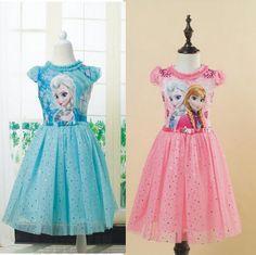 11.40$  Buy now - 2016 hot selling girl princess dress vestidos infantis congelados anna elsa fever dress diamond dress costume XMS Party Dresses  #aliexpressideas