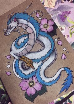 Studio Ghibli Tattoo, Studio Ghibli Art, Totoro, Tattoo Samurai, Art Sketches, Art Drawings, Chihiro Y Haku, Miyazaki, Geniale Tattoos