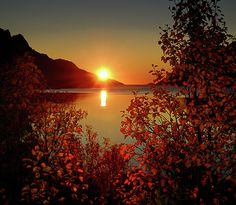 Sunset In Ersfjordbotn Photograph by John Hemmingsen - Sunset In Ersfjordbotn Fine Art Prints and Posters for Sale