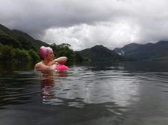 from @jackierisman at Crummock Water Loweswater United Kingdom . Lady of the Lake #onmywaytothepool #wildaboutswimmingwild #crummockwater #summerchills