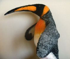 The king penguin hand puppet wet felted. bibabo. от GaraninaKatya, hand puppet pinguin
