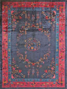 Antique Chinese Oriental Rugs #43749  http://nazmiyalantiquerugs.com/antique-rugs/chinese/