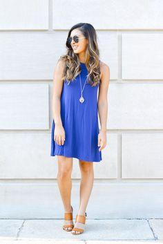 A Glimpse of Glam | Blue Swing Dress.