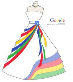 Victor Faretina from Deviant Art has created famous sites as dresses. All of them are beautiful and extremely creative. But from the lot our favorite is the Google Dress followed by MSN.  http://www.gizmodiva.com/fashion/famous-websites-as-dresses.php