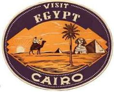 Cairo Egypt Vintage 1950's Style Travel Decal Sticker   eBay