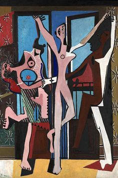 """Three Dancers"" 1925 oil painting by Pablo Picasso (1881–1973)"