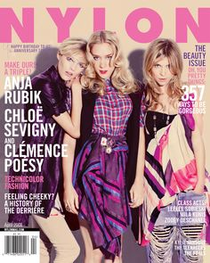 Flashback Friday just got 3x better with our April 2008 cover girls Anja Rubik, Chloe Sevigny, and Clemence Poesy