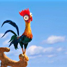 Arte Disney, Disney Magic, Disney Art, Chicken Painting, Chicken Art, Moana Chicken, Moana Gif, Hei Hei Moana, J Hope Gif