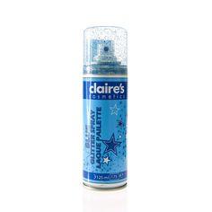 Spray pour les cheveux bleu pailleté