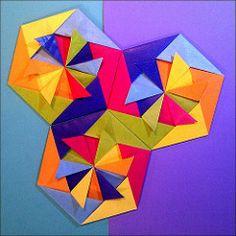 Circus Three Puzzle Hans Werner Guth Tags 2 Origami Coaster Modularorigami