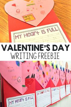 Valentine's Day is right around the corner, and this writing freebie is the perfect way to incorporate the fun holiday into your teaching plans! Students will be able to share, through both pictures… 1st Grade Writing, Kindergarten Writing, Writing Activities, Literacy, Educational Activities, Teaching Resources, Teaching Ideas, Classroom Crafts, Classroom Ideas