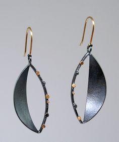 Sydney Lynch, Open Leaf earrings