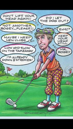 Expert Golf Tips For Beginners Of The Game. Golf is enjoyed by many worldwide, and it is not a sport that is limited to one particular age group. Not many things can beat being out on a golf course o Golf Etiquette, E Mc2, Golf Humor, Funny Golf, Sports Humor, Golf Exercises, Golf Quotes, Golf Sayings, Humor Quotes