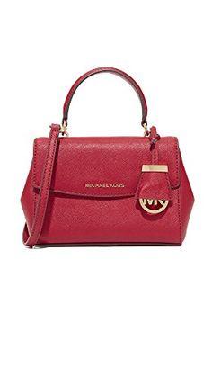 MICHAEL Michael Kors Women's Ava Extra Small Cross Body Bag, Cherry, One Size