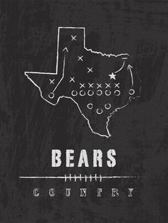 """Bears Country"" chalk large wall art"