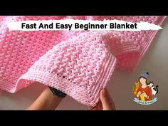 How To Crochet Fast And Easy Beginner Blanket If you are looking for an cozy and simple blanket for your baby and if you are a beginner, this tut Crochet Baby Blanket Tutorial, Crochet Baby Blanket Beginner, Crochet Baby Blanket Free Pattern, Beginner Crochet Tutorial, Beginner Crochet Projects, Baby Knitting, Simple Crochet Blanket, Free Crochet, Crochet Pattern