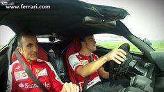 The Spanish pilot Fernando Alonso drives a Ferrari