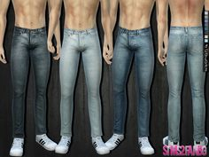 The Sims Resource: 286 - Skinny jeans by sims2fanbg • Sims 4 Downloads