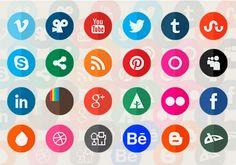 54 Free High-Quality Social Media Icon Sets For Your Website. #SocialSmarter #SocialMediaMarketing