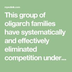 This group of oligarch families have systematically and effectively eliminated competition under the deceptive misnomer of a free enterprise system. Modernization is synonymous with globalization, privatization and militarization. Subsequently, an extremely small number of humans representing a privileged ruling elite has imposed a global caste system that's hatched its long term diabolical plan to actualize its one world government.