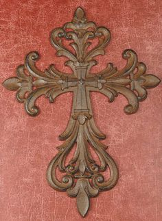 "CAST IRON CROSS (SET OF 2) by DRAKE DESIGN. $38.00. FC-689. Cast Iron Open Cut Cross Set of 2 Sold in assortment only Cast Metal 14"" tall"