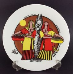 E.R. Tagle Mother Child Plate '91 Fish Be With Us LE #37/100 Filipino Positivism