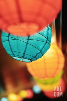 Paper Lanterns Photographic Print