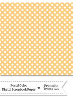 Pastel Light Orange Polka Dot Digital Scrapbook Paper from PrintableTreats.com