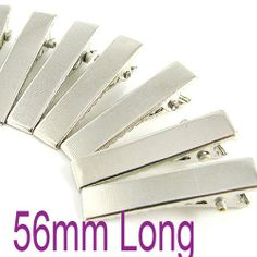 Free shipping!!!  Silver flat metal hair alligator clip baby 56mm $80.23