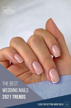 The Best Wedding Nails 2021 Trends ♥ We've created collection of wedding makeup. There are ideas for unique make up, elegant, make up that will be appropriate for different eyes' colors. #wedding #naildesign #weddingforward #bride #weddingbeauty #weddingnails Chic Nails, Stylish Nails, Trendy Nails, Casual Nails, Chic Nail Art, Elegant Nails, Subtle Nails, Neutral Nails, Metallic Nails