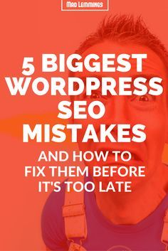 5 Biggest WordPress SEO Mistakes (And How To Avoid Them) [Via @SEO & Wordpress Specialist | Helping Solopreneurs, Bloggers and Small Business with SEO Tips, WordPr ]