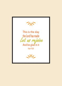 Inspirational Print Gift Idea Bible Verse Print by MDesignCompany, $10.00