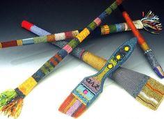 Barbara Lash beaded paintbrushes