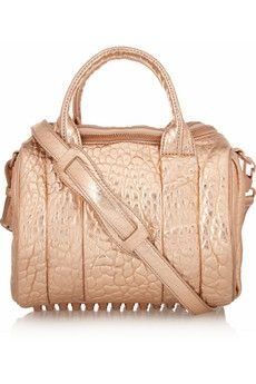 Alexander Wang Rockie Dumbo metallic textured-leather tote | THE OUTNET