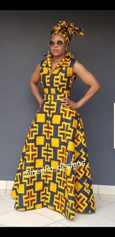 the Best African Kitenge Designs 2019 - Reny styles African Print Dress Designs, African Print Dresses, African Print Fashion, Latest African Fashion Dresses, African Dresses For Women, African Attire, Modern African Dresses, Kitenge Designs Dresses, African Traditional Dresses